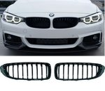 BMW Performance glans zwarte grill set 4er F32 / F33 / F36 / F82  51712336813 51712336814
