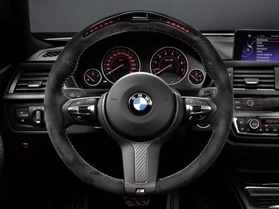 BMW M Performance racedisplay stuur in alacantara met carbon F20 F21 F22 F23 F30 F31 F34 F32 F33 F36