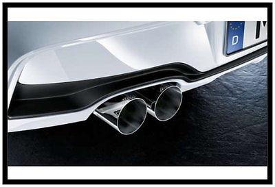 BMW M Performance uitlaatsierstuk chroom F30,F31 316d,318d,320d