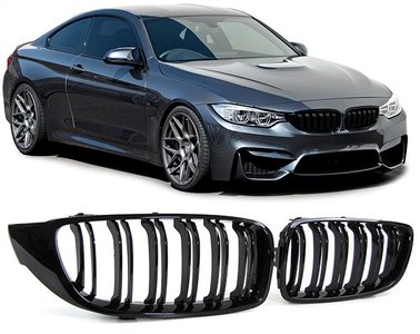 BMW M4 Performance glans zwarte grill set 4er F32 / F33 / F36 / F82 51712352811-812