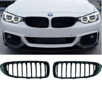 BMW Performance glans zwarte grill set 4er F32 / F33 / F36 / F82  51712336813 51712336814